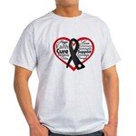 Heart Ribbon Melanoma Light T-Shirt