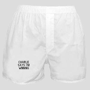 Charlie Says I'm Winning Boxer Shorts