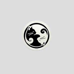 Yin Yang Cats Mini Button
