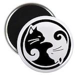 """Yin Yang Cats 2.25"""" Magnet (10 pack)"""