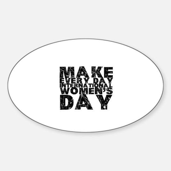 International Womens Day Sticker Oval