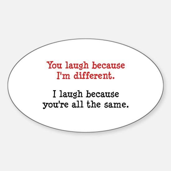 I'm Different Sticker (Oval)