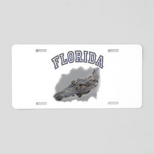 Florida Alligator Aluminum License Plate