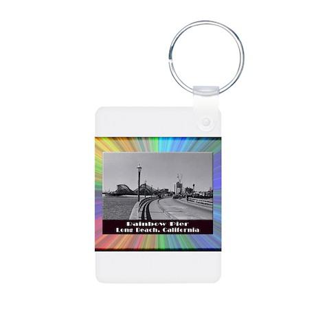 Rainbow Pier Aluminum Photo Keychain