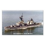USS CHARLES P. CECIL Sticker (Rectangle)