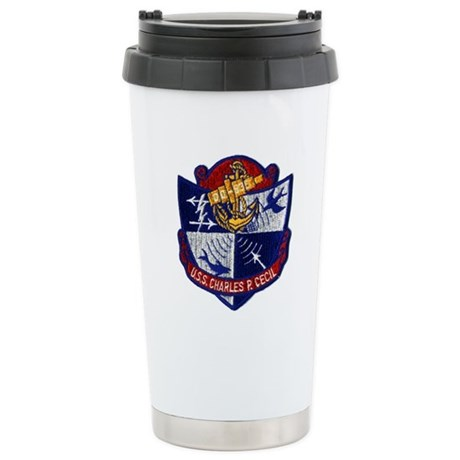 USS CHARLES P. CECIL Stainless Steel Travel Mug