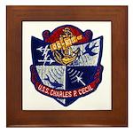 USS CHARLES P. CECIL Framed Tile