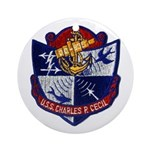 USS CHARLES P. CECIL Ornament (Round)