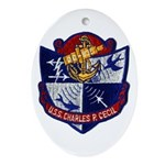 USS CHARLES P. CECIL Ornament (Oval)
