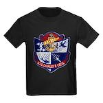 USS CHARLES P. CECIL Kids Dark T-Shirt