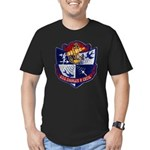 USS CHARLES P. CECIL Men's Fitted T-Shirt (dark)