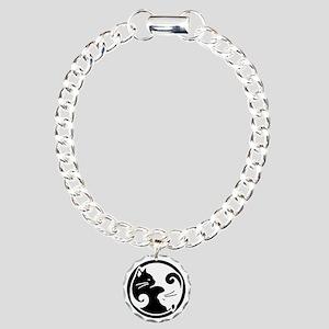 Yin Yang Cats Bracelet and Charm