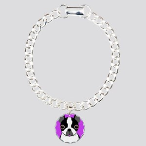 Boston Terrier (Black) Charm Bracelet, One Charm