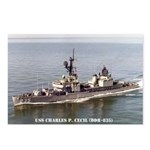 USS CHARLES P. CECIL Postcards (Package of 8)
