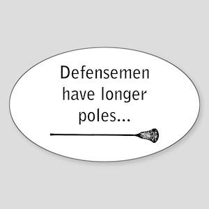 Defensemen have longer poles Sticker (Oval 10 pk)