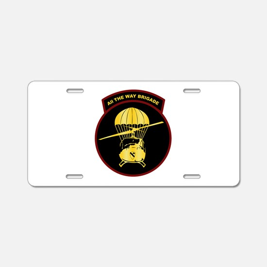 8th Cavalry Reg. 1965-1966 Aluminum License Plate