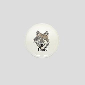 The Cherokee Wolf Mini Button