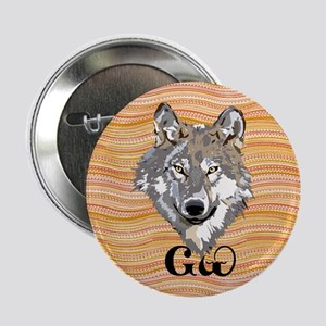 """The Cherokee Wolf 2.25"""" Button"""