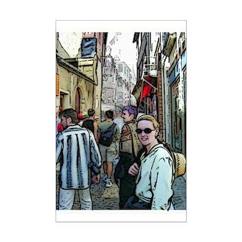 Emily in Brittany - Mini Poster Print