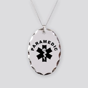 Paramedic Star Of Life Necklace Oval Charm