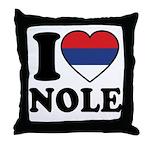 Nole Serbia Throw Pillow