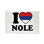 Nole Serbia Rectangle Magnet (10 pack)
