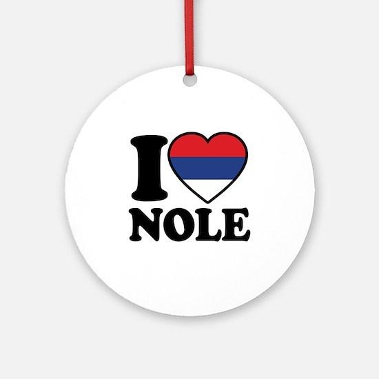 Nole Serbia Ornament (Round)