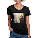 Vampire Eye Doctor Plo Women's V-Neck Dark T-Shirt