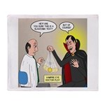 Vampire Eye Doctor Ploy Plush Fleece Throw Blanket