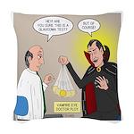 Vampire Eye Doctor Ploy Woven Throw Pillow