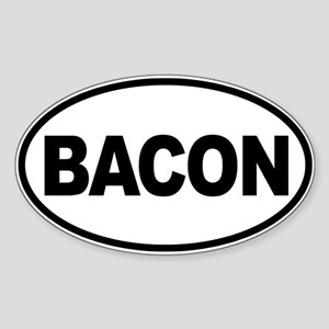 Bacon. Enough Said Sticker (Oval)