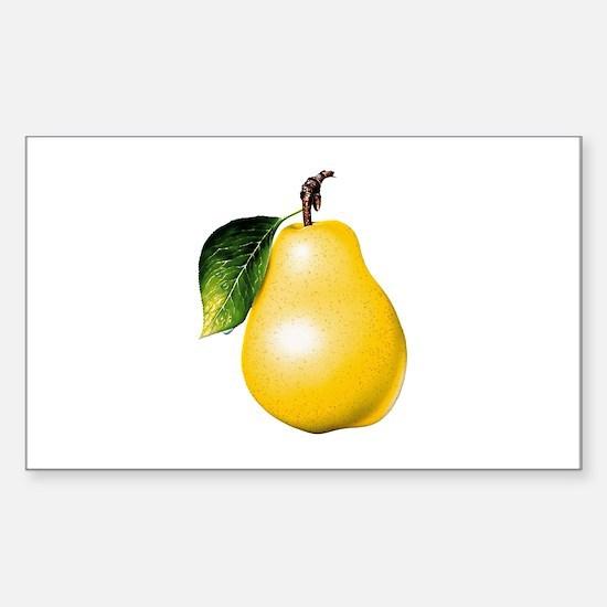 Pear Sticker (Rectangle)