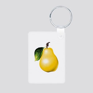 Pear Aluminum Photo Keychain