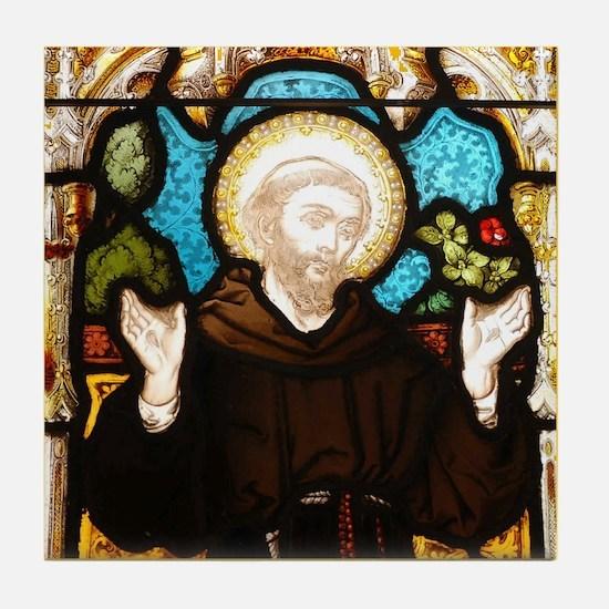 St Francis Tile Coaster