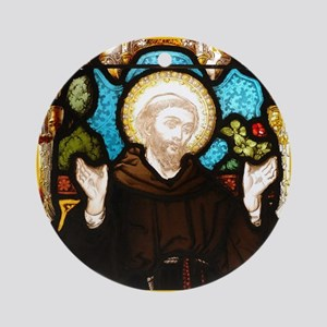 St Francis Ornament (Round)