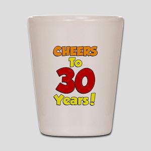 Cheers to 30 Years Shot Glass