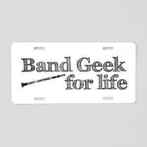Clarinet Band Geek Aluminum License Plate