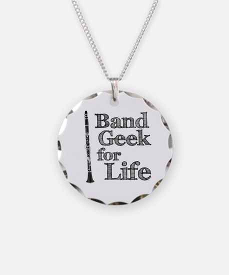 Clarinet Band Geek Necklace Circle Charm