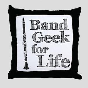 Clarinet Band Geek Throw Pillow