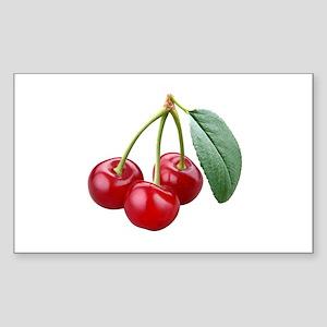 Cherries Cherry Sticker (Rectangle)