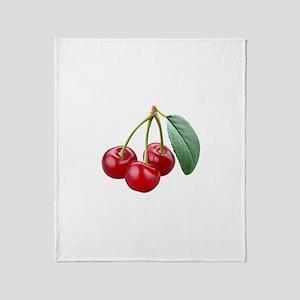 Cherries Cherry Throw Blanket
