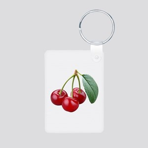 Cherries Cherry Aluminum Photo Keychain