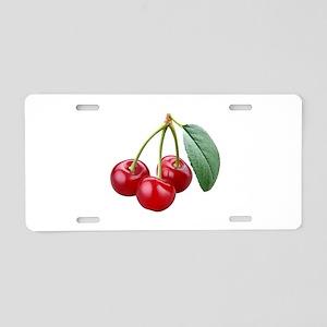 Cherries Cherry Aluminum License Plate