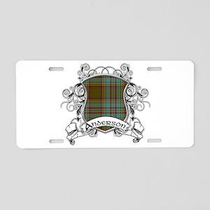 Anderson Tartan Shield Aluminum License Plate