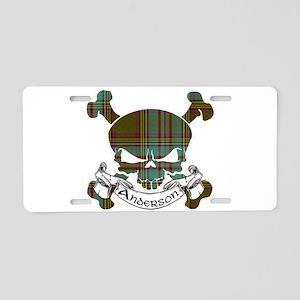 Anderson Tartan Skull Aluminum License Plate