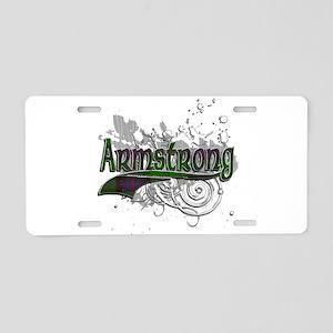 Armstrong Tartan Grunge Aluminum License Plate
