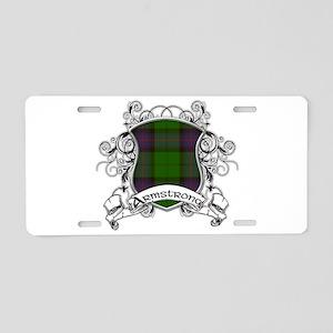 Armstrong Tartan Shield Aluminum License Plate