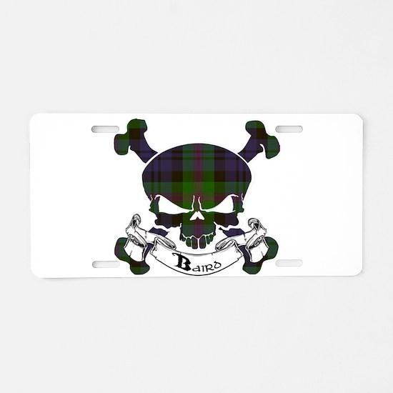 Baird Tartan Skull Aluminum License Plate