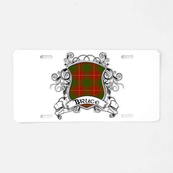 Bruce Tartan Shield Aluminum License Plate