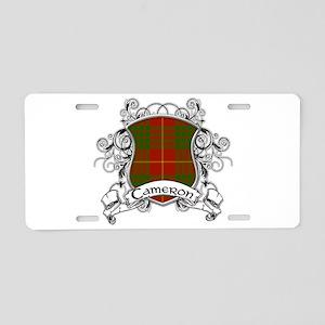 Cameron Tartan Shield Aluminum License Plate